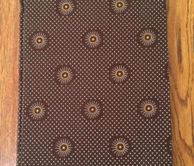 Notebook with Shweshwe fabric