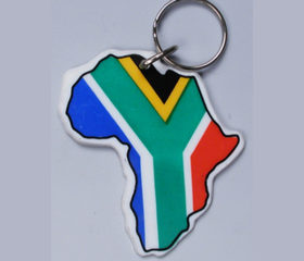 Plastic Africa Shape Keyring