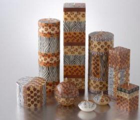 Animal Skin Print Candles