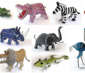Medium Beaded Animals