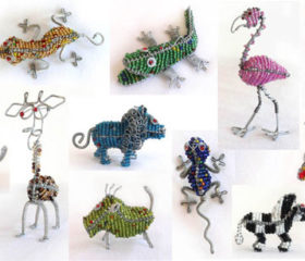 Small Bead and Wire Animal