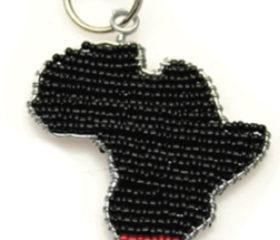 Africa Shape Keyring