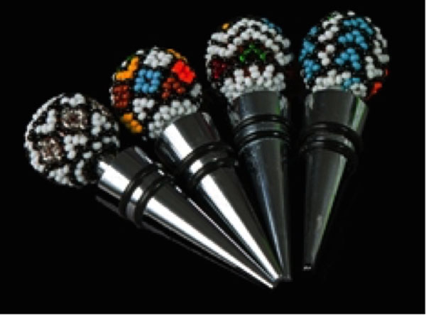 Beaded Bottle Stoppers African Touches
