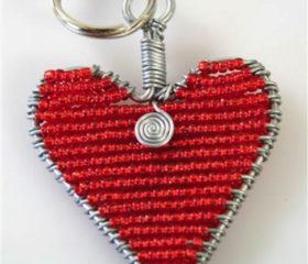 Heart Keyring