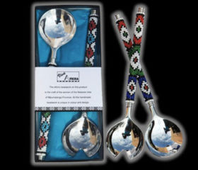 Ndebele Beaded Salad Servers