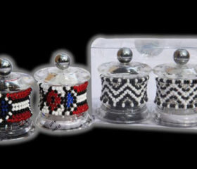 Small Beaded Salt and Pepper Grinders