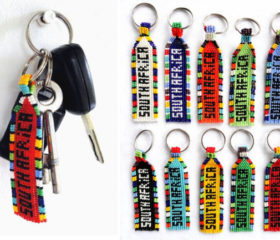 South Africa Beaded Keyring