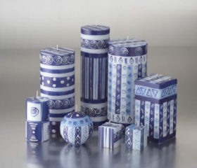 Range of Blue and White Candles