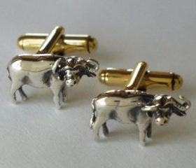Cufflinks Buffalo Shape