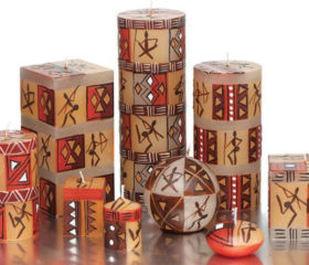Bushmen Design Candles