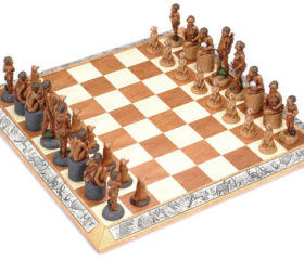 Small Bushman Chess Set