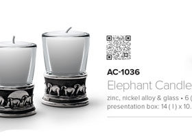 Andy C Elephant candle holder or shot glass