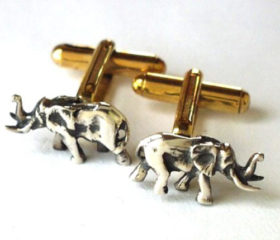 Elephant Full Body Cufflinks