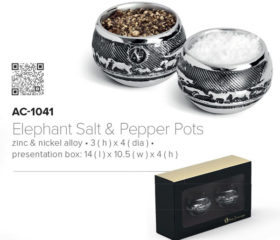 Andy C Elephant Salt and Pepper Pot