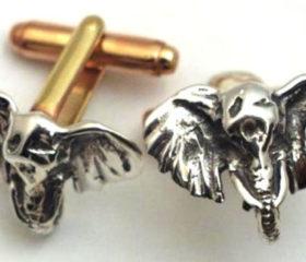Elephant Head Cufflink