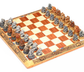 Fat Five and Friends Chess Set