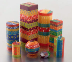 Ethnic Funky Candle