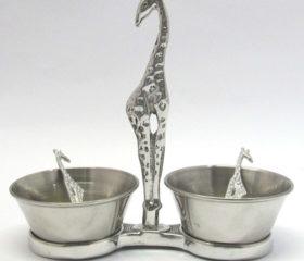 Giraffe Twin Bowl