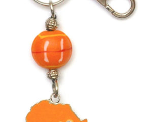 Africa Shape Keyring Hand Painted