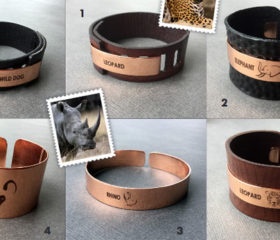 Copper and Leather Animal Bangles
