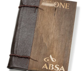 Hand-made Leather and Wooden Notebook