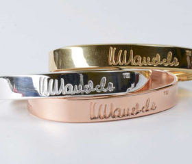 Gold and Silver Mandela Bangles