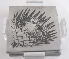 Coasters with Protea Design