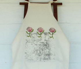 Apron with Protea and Map Design