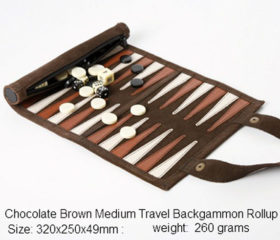 Roll Up Travel Backgammon set