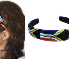 Beaded SA Flag Aliceband