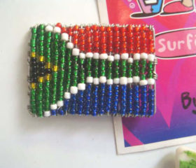 Beaded SA Flag Magnet