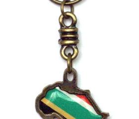 Africa Shape Keyring with SA Flag