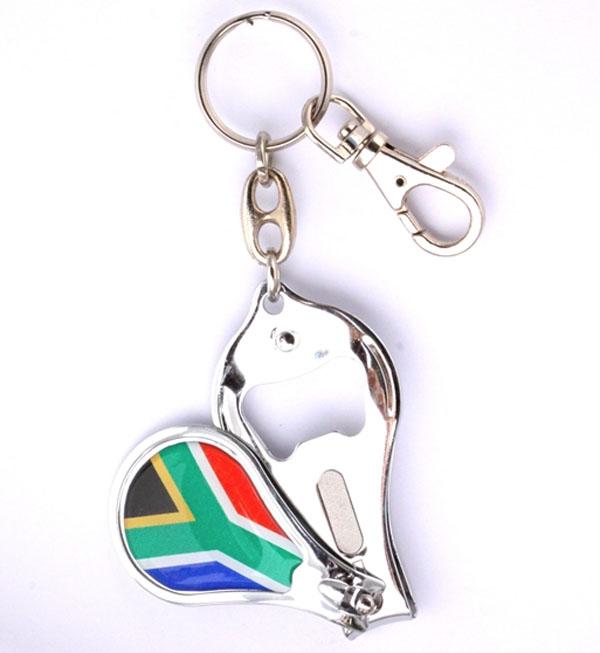SA Flag Nail Clipper BO Keyring