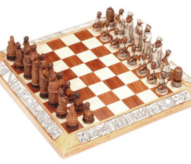 Earthy Tribal Chess Set