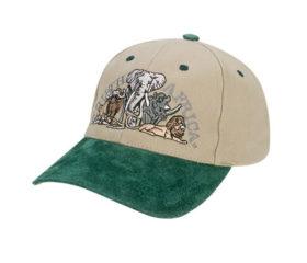 Khaki and Green Safari Cap