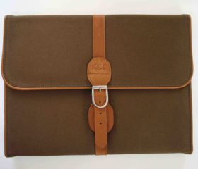 Canvas and Leather Folder