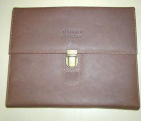 Leather Tri Folder
