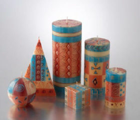 Hand painted Candles Tuscany
