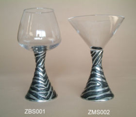 Zebra Brandy and Martini Glasses