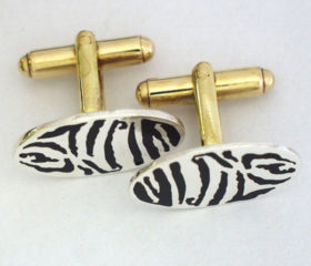 Cuffllinks Zebra Design