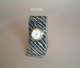 Desk Clock Zebra