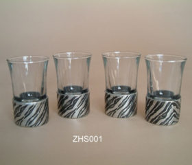 Shot Glasses Zebra Design