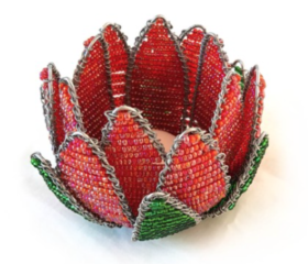 Bead Wire Protea Flower Tealight