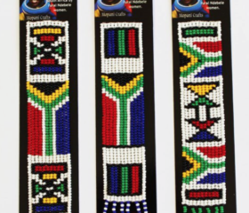 SA Flag Beaded Bookmark