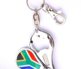 SA Flag Bottle Opener Keyirng