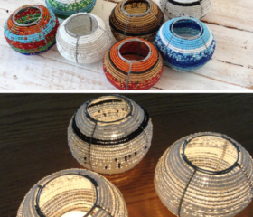 Beaded T Light Holders