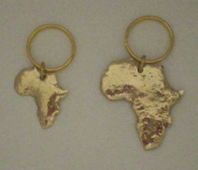Copper Africa Keyring