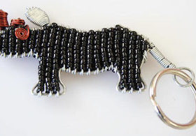 Black Rhino Key Ring