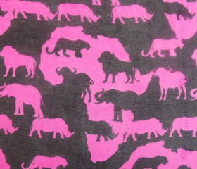 Ladies Africa Map Animal Scarves