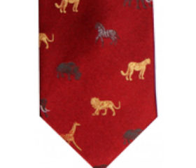 Big 5 Animal Silk Tie